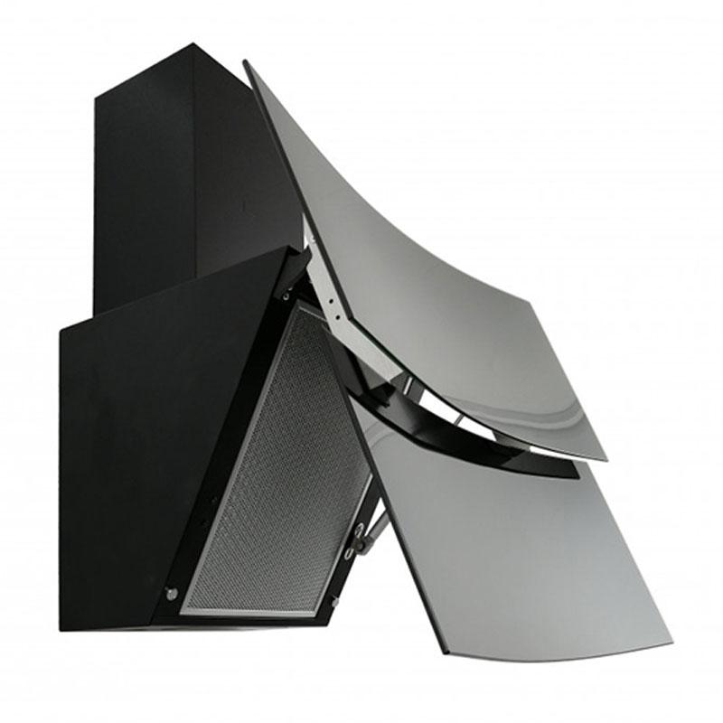 Hota Decorativa Tornado Blaze Touch Free 1100 (60) LED, 1 motor Turbo, latime 60 cm, 4 viteze, absorbtie 1100 m3/ora, filtru anti-grasimi aluminiu 5 straturi, Negru/Sticla