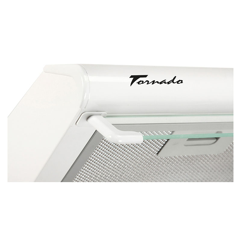 Hota traditionala Tornado Bona 10 (60) LED, 1 motor, latime 60 cm, absorbtie 380 m3/ora, filtru anti-grasimi aluminiu 5 straturi, Alb
